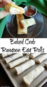 Cooking With Carlee: Baked Crab Rangoon Egg Rolls #eggrolls