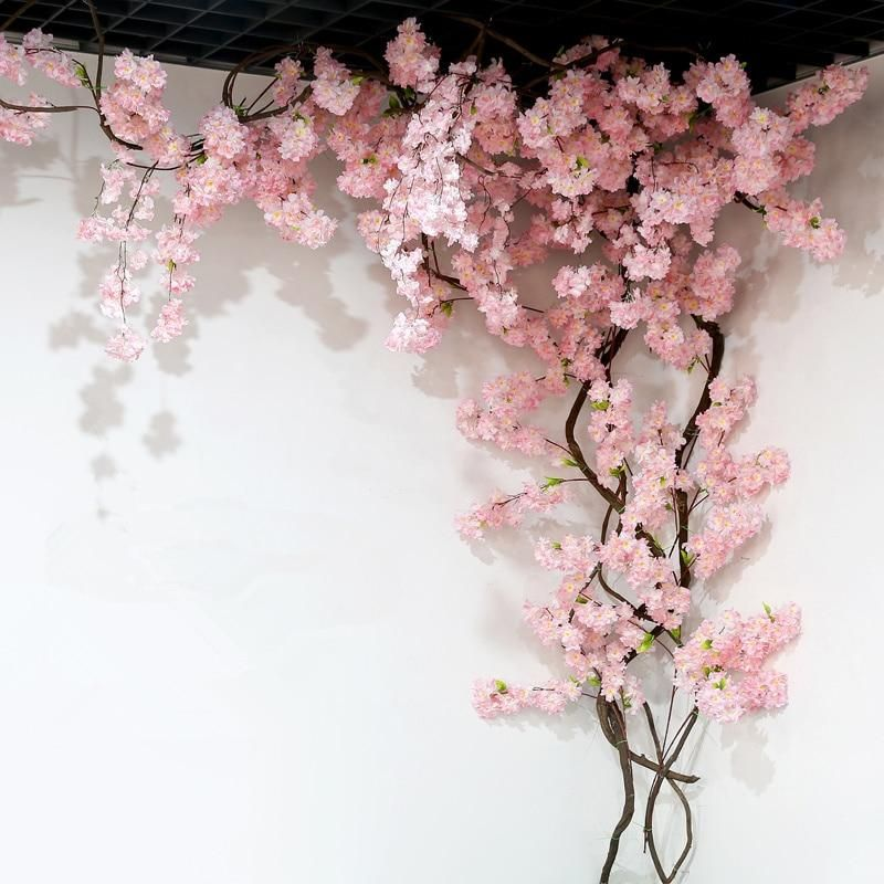 Artificial Flower Background Wall Decoration Flower Wall Decor Blossom Tree Wedding Blossom Trees