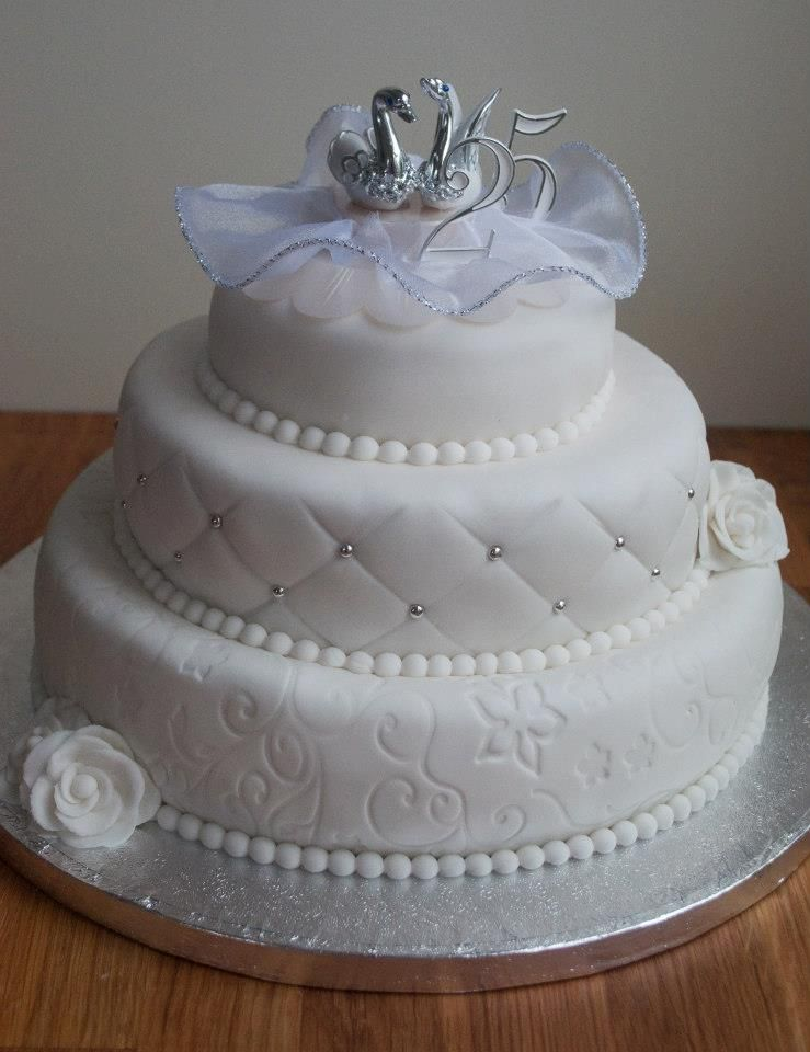 Onwijs Jubileum taart, 25 jaar getrouwd | Taart, Cake NG-38