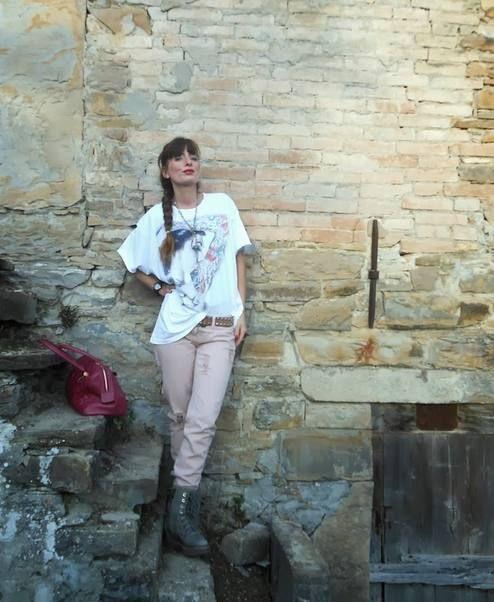 The Fashionamy By Amanda: Tatuaggi Pastello - Maxitee Outfit  #