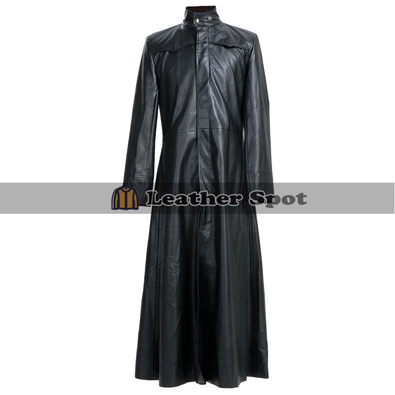 Matrix Neo Keanu Reeves Gothic Black Leather Trench Coat Lm Jackets Leather Trench Coat Long Leather Coat Trench Coat Black [ 1600 x 1600 Pixel ]