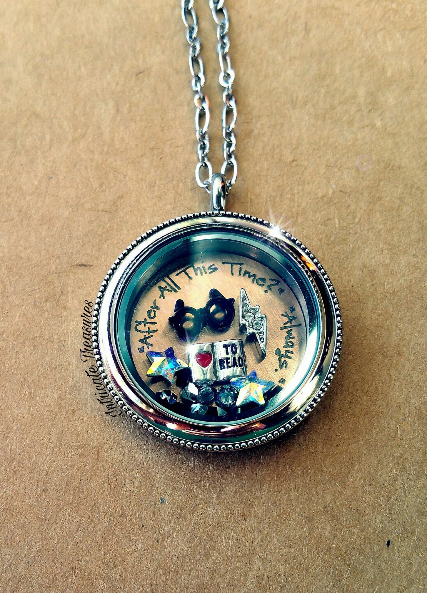 Origami owl harry potter inspired locket charmingsusie always origami owl living lockets make the perfect gift for your all the special women in your life create their story with a personalized locket and jeuxipadfo Image collections