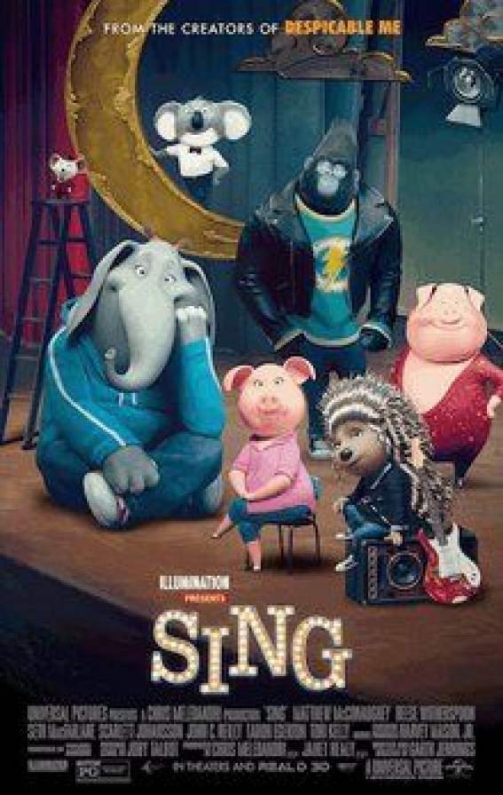 Movie Review Of Sing The Movie 2016 Movie Animationmovies Animation Movies Poster In 2020