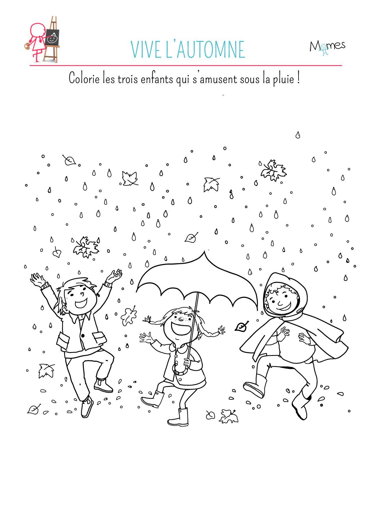 Coloriage Vive Les Feuilles Dautomne Activité Coloriage