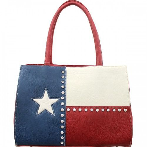 Concealed Carry Vintage Texas Flag Handbag