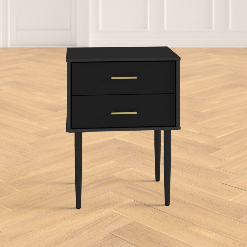 Aveline 2 drawer nightstand in 2020 end tables with