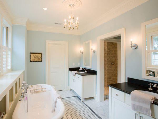 Breathe Of Fresh Air Color Of The Year 2014 Black And White Tiles Bathroom White Bathroom Designs White Bathroom
