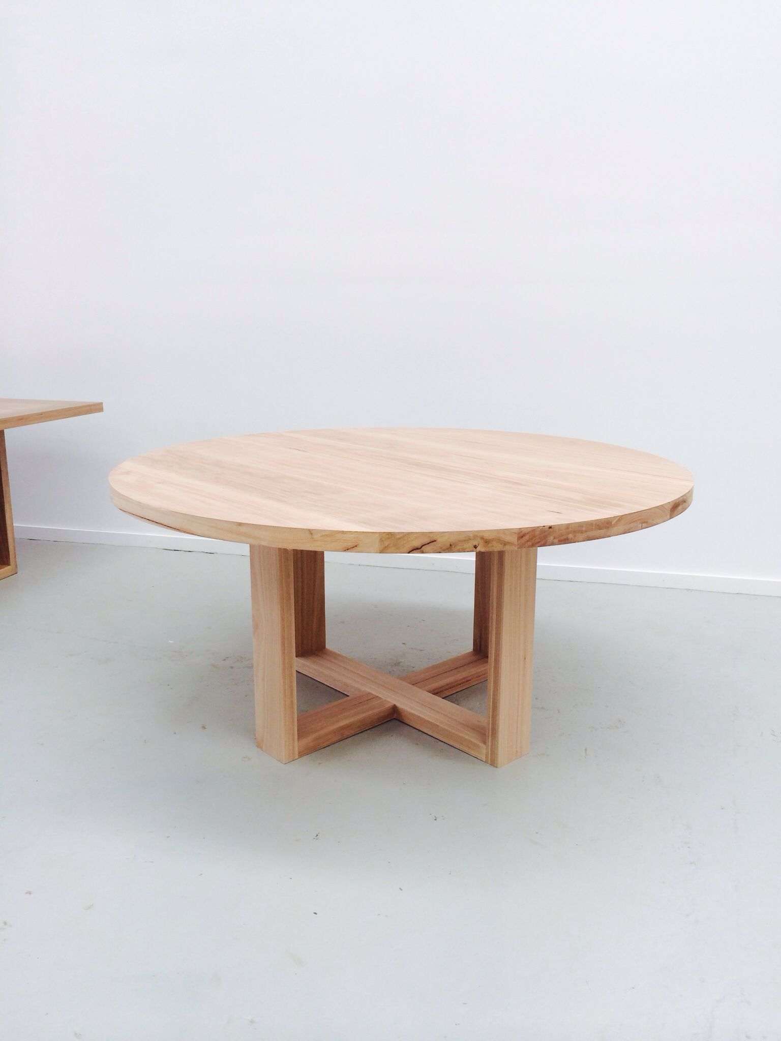 The Orbit round timber dining table from 1000mm up to a massive