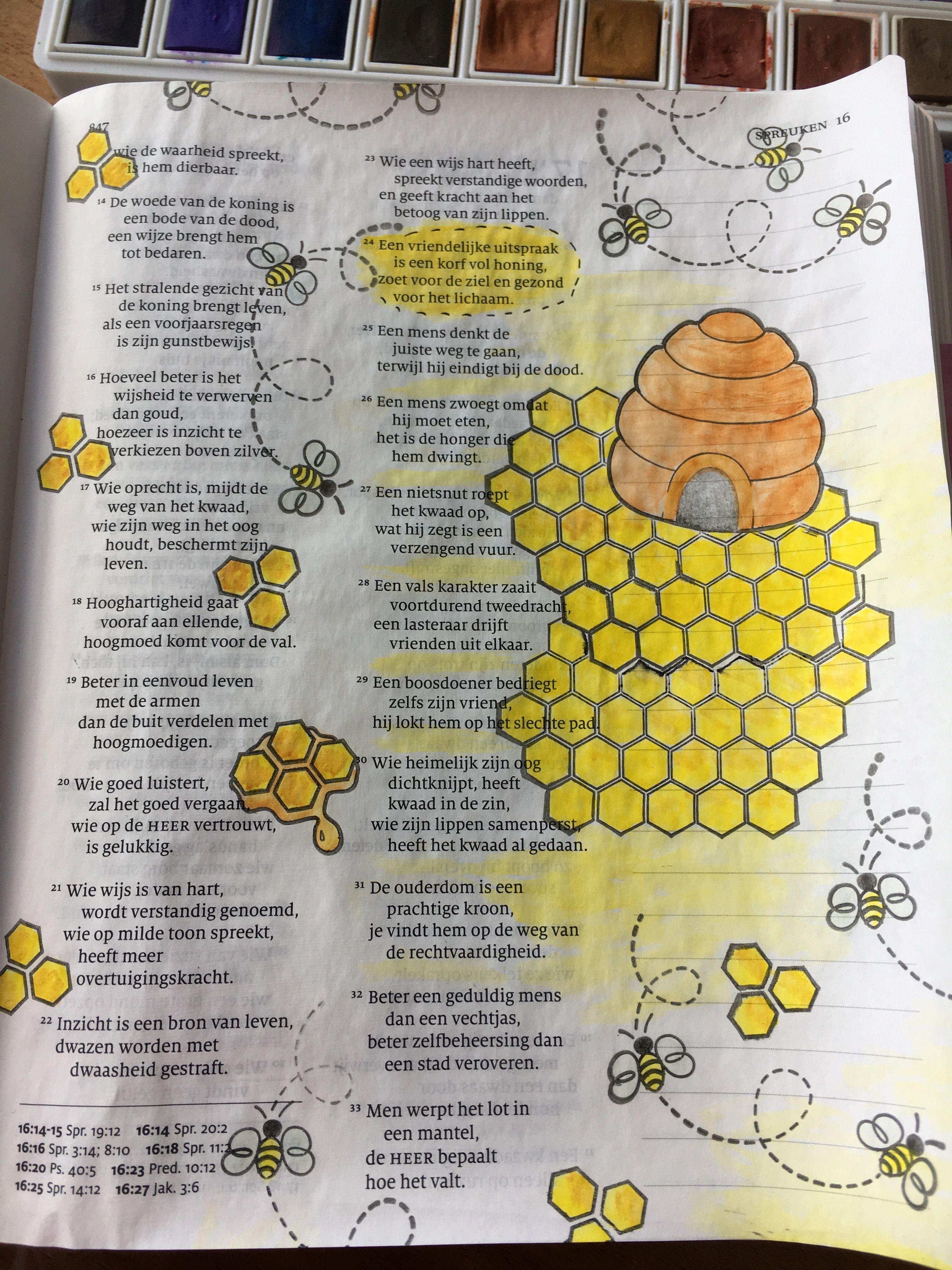 een vriendelijk woord spreuken Spreuken 16, een vriendelijk woord   bible journaling  een vriendelijk woord spreuken