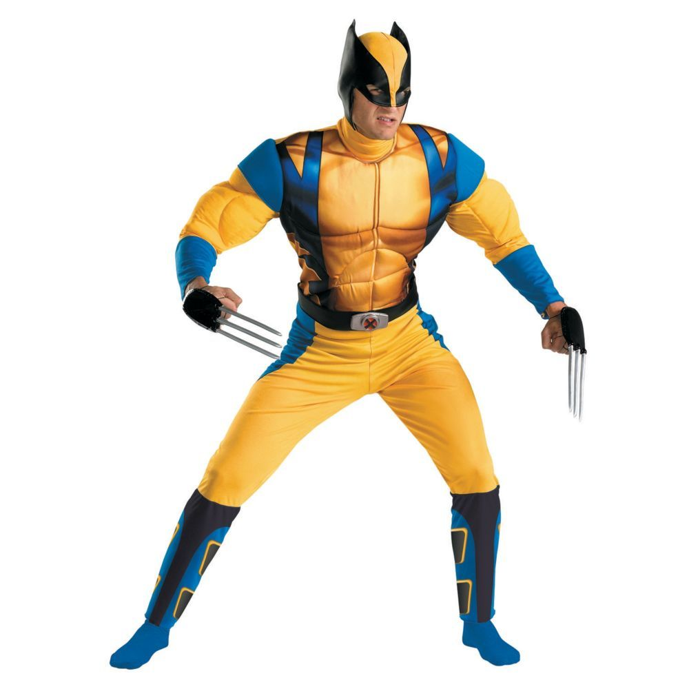 Classic Origins Muscle Wolverine Halloween Costume for Men - Extra ...