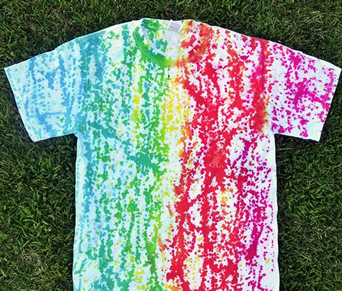 Abstract Drip Dye T-shirt