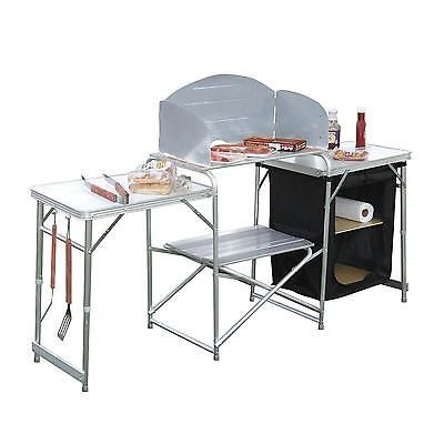 outdoor prep station portable kitchen cook folding camping table rh pinterest com