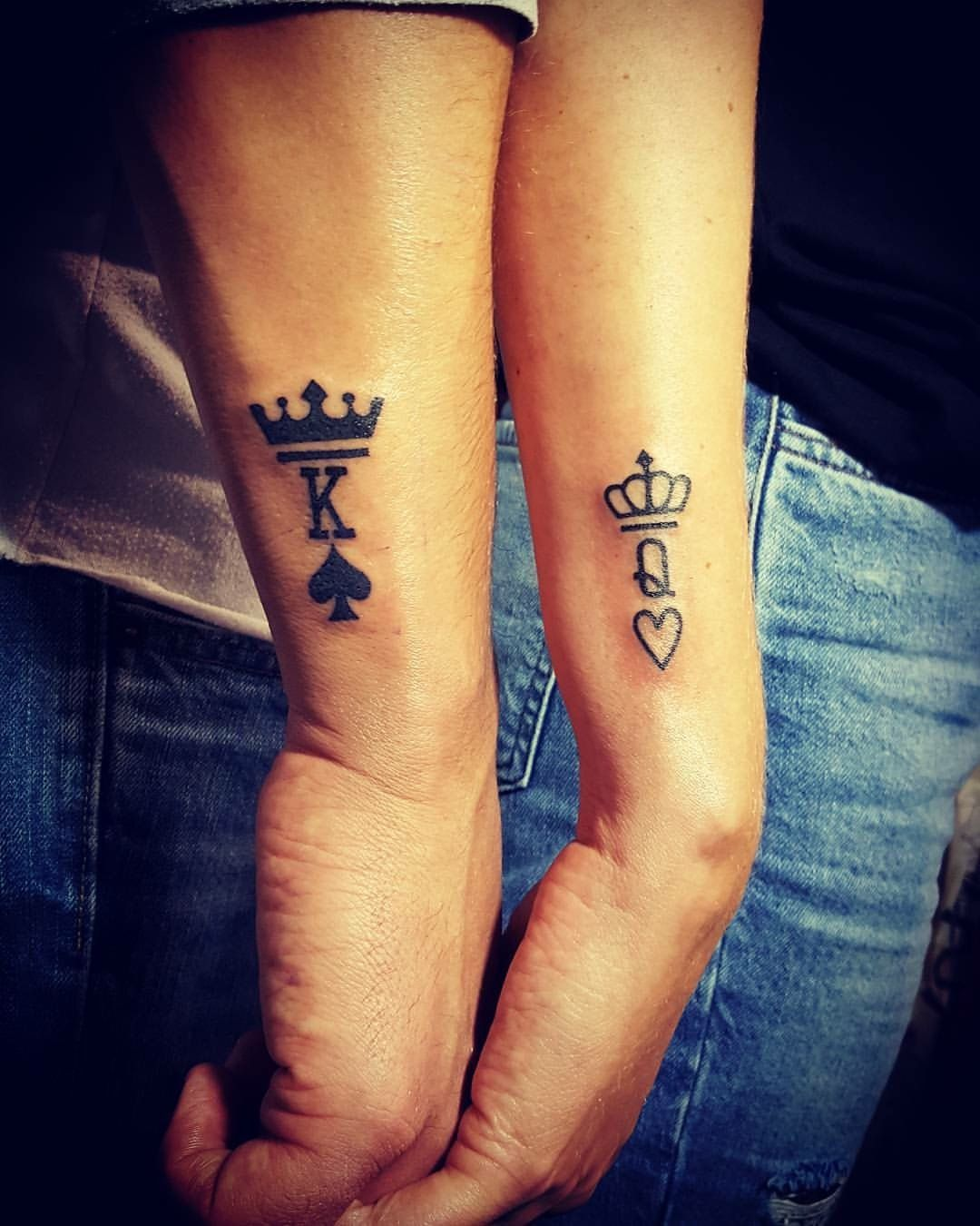 His & Hers King and Queen Tattoo