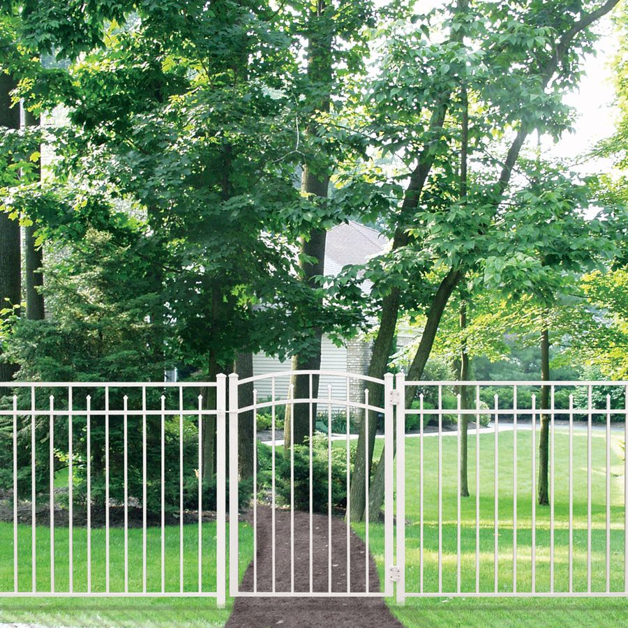 Shop FREEDOM 54-in x 72-in White Aluminum Fence Panel at Lowes com