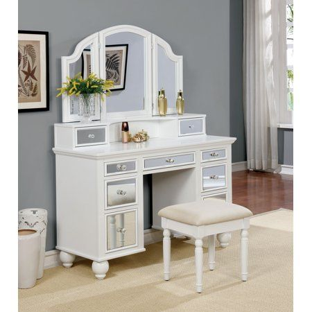 Furniture of America Stella Contemporary Vanity Set, Multiple Colors ...