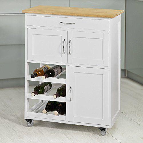 SoBuy® Servierwagen Küchenwagen Küchenschrank Rollwagen B67 x T37 - küchen unterschrank ikea
