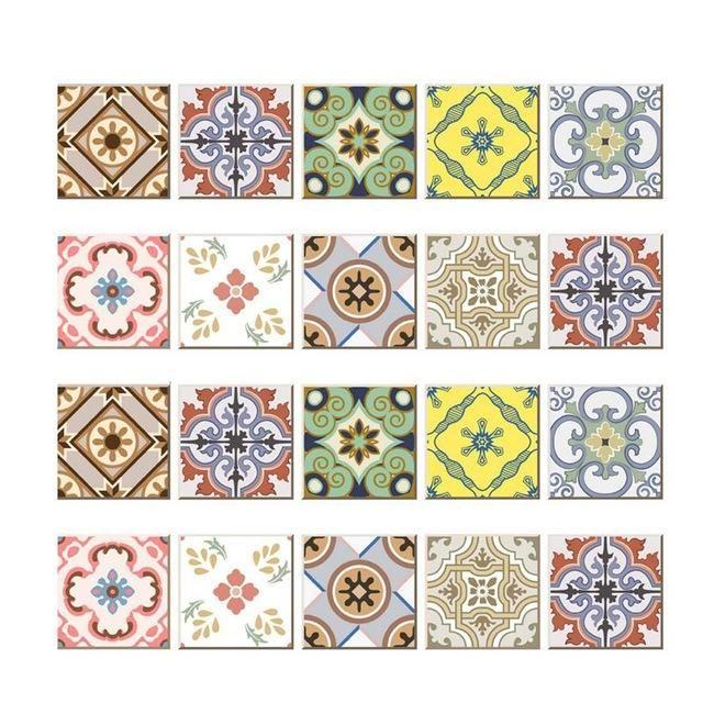 Diy Mosaic Wall Tiles Stickers Waist Line Wall Sticker Kitchen