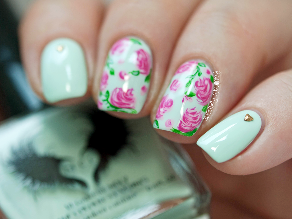 Soft vintage rose nail art paulinas passions rose nail art soft vintage rose nail art prinsesfo Image collections