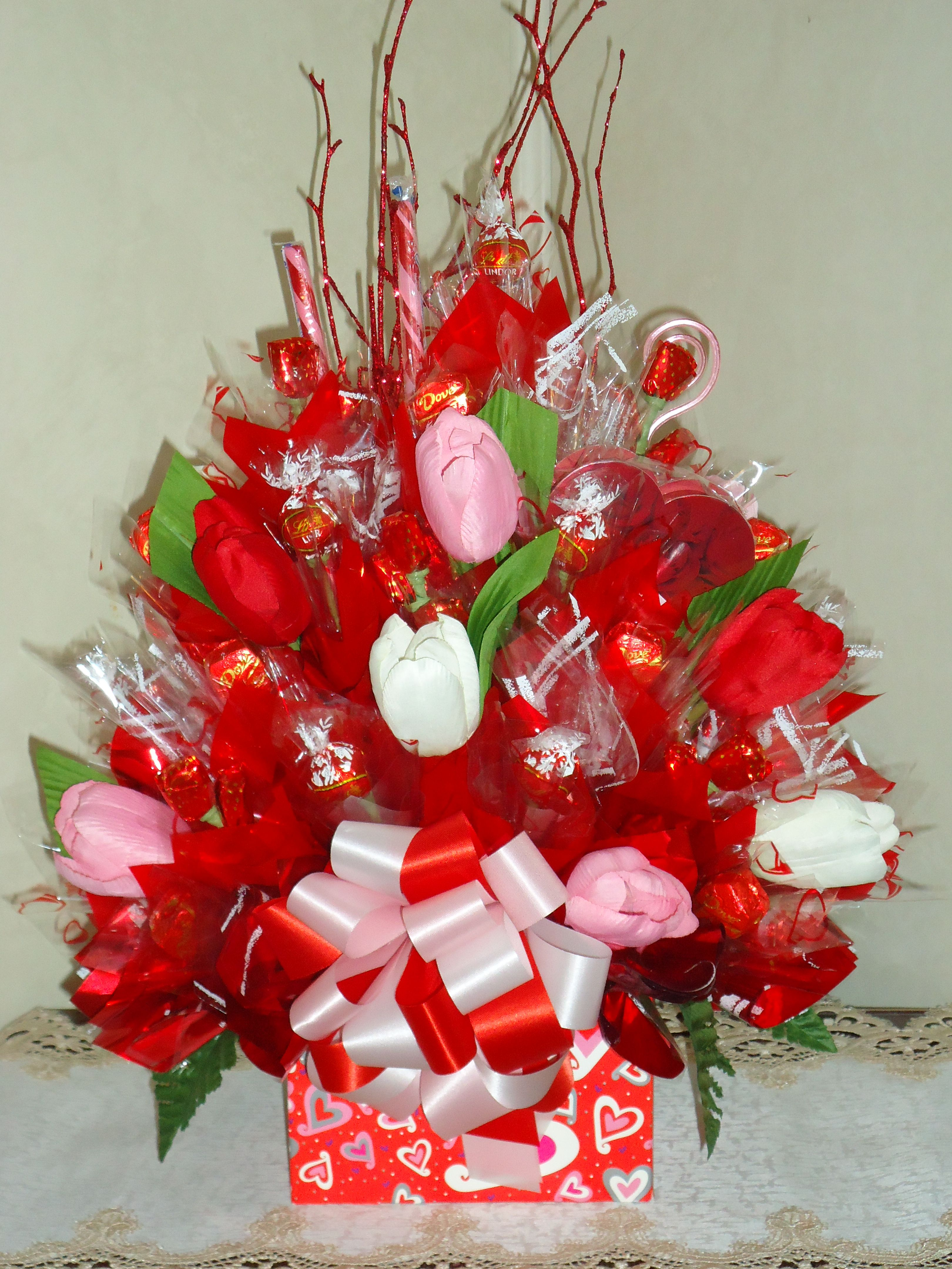 Valentine S Day Candy Bouquet Made For A Fundraiser Candy