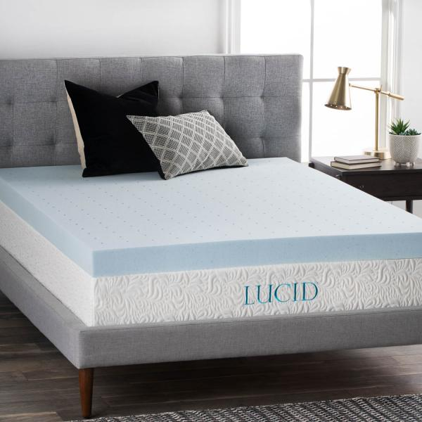 Lucid 4 Gel Memory Foam Topper Twin Xl Memory Foam Mattress Topper Best Mattress