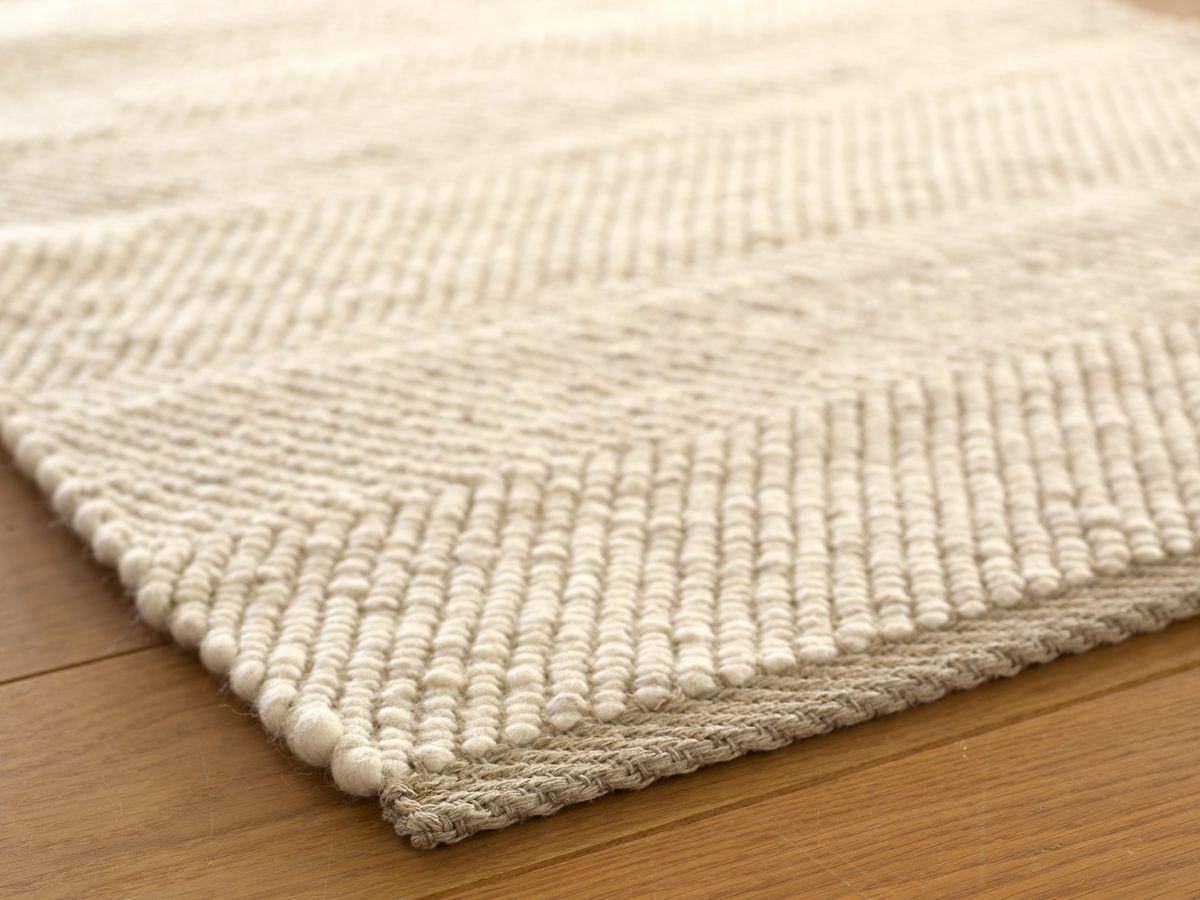 Schön Schafschurwoll Teppich PASCOLO, Naturweiß, 200x300 Cm, 90% Schafschurwolle  10% Leinen