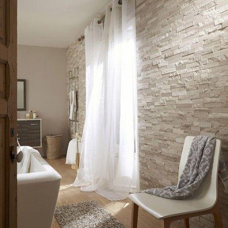 Plaquette De Parement Cottage En Pierre Naturelle Gris Beige Decoration Interieur Salon Briquette De Parement Deco Mur Salon