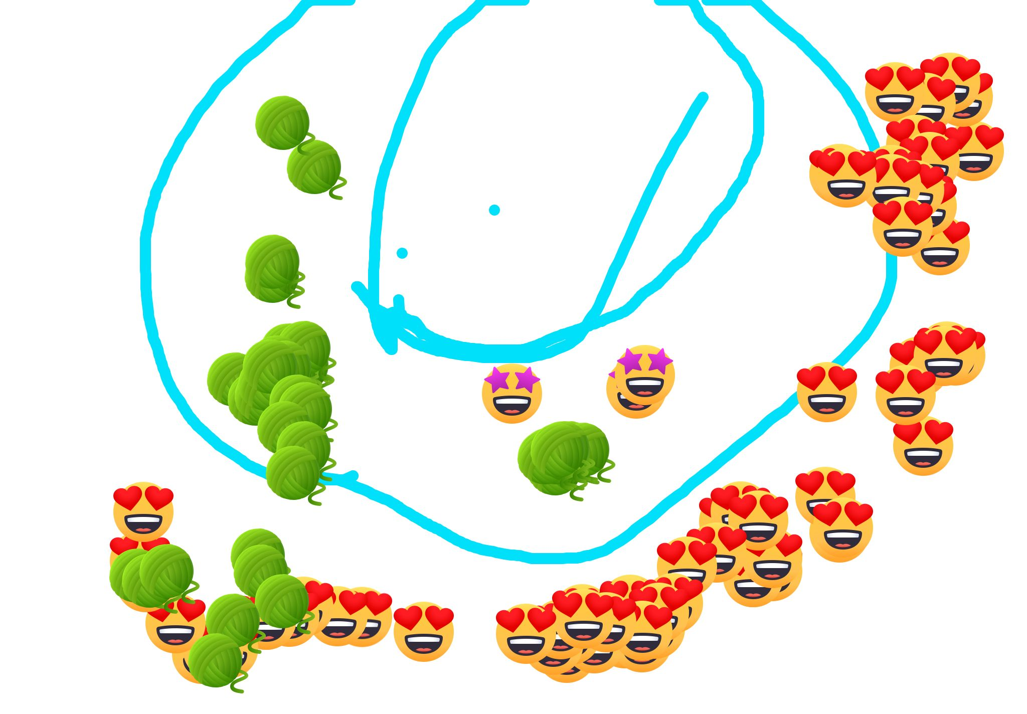 I just drew this with Doodle Buddy, a free drawing app for