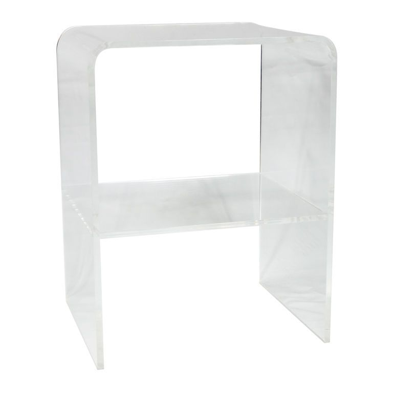 Lucite Waterfall Side/End Table | From A Unique Collection Of Antique And  Modern Side