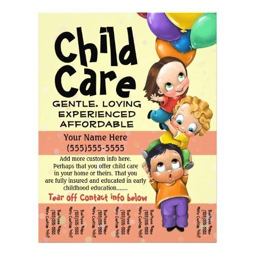 Child Care. Babysitting. Day Care. Tear sheet | Babysitting and ...