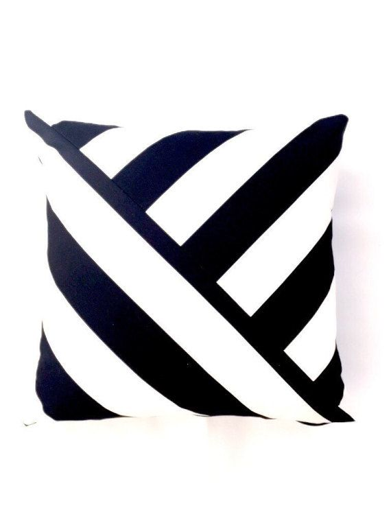Black And White Striped Pillow Cover Etsy Pillows Pillow Covers Black And White Pillows