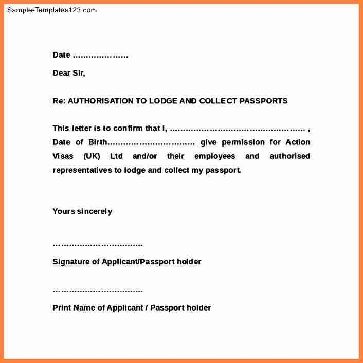 authorization letter for passport lodge and click download the - letters of authorization