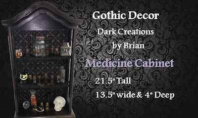 Gothic Decor Dark Caninet