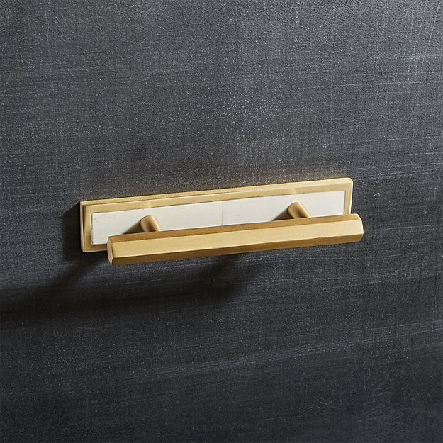 Hex Brushed Brass Handles with Bone Backplate