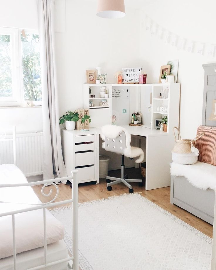 33 Comfy Workspace Decor Ideas For Your Home On Budget Teenage Bedroom Ideas Ikea Small Room Bedroom Small Apartment Bedrooms
