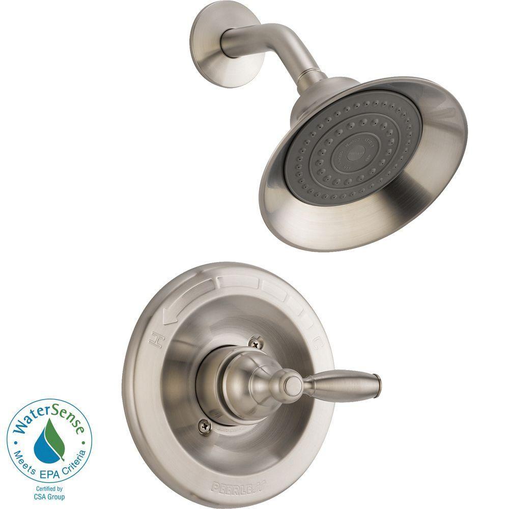 Peerless Claymore Single Handle Shower Faucet Trim Kit In Brushed