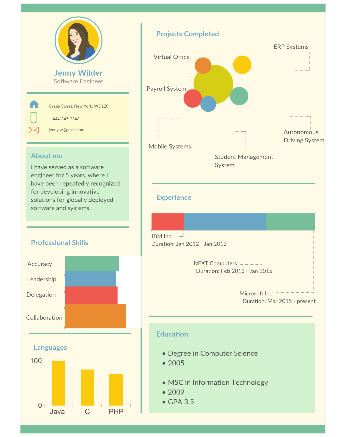 Visual Resume Templates With An Attentiongrabbing Infographic Visual Resume Like This