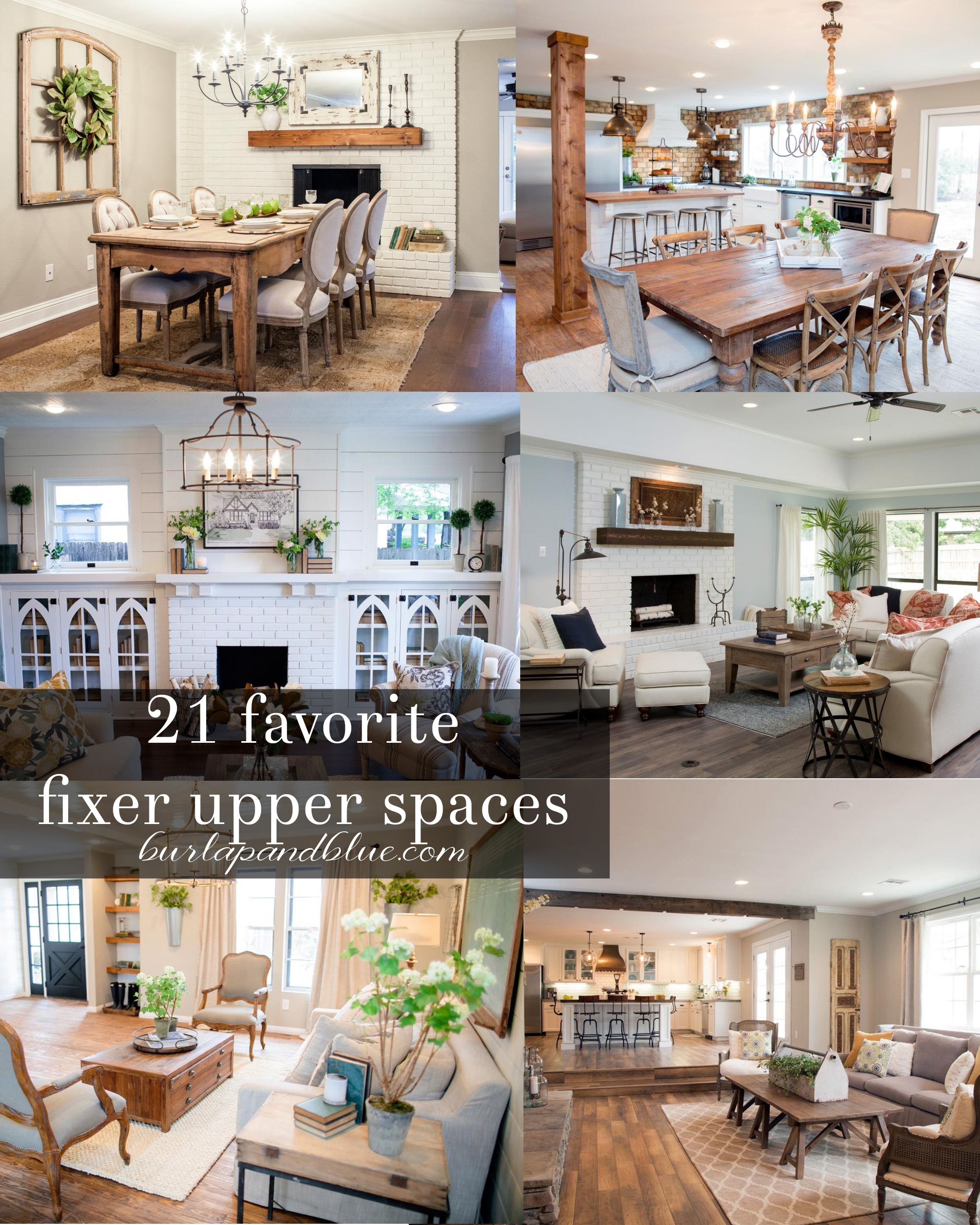 Fixer Upper Dining Rooms, Living Rooms And Kitchens {get