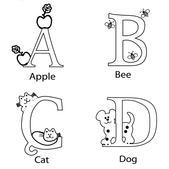 Abcd coloring page for preschool printable worksheet for - printable worksheet