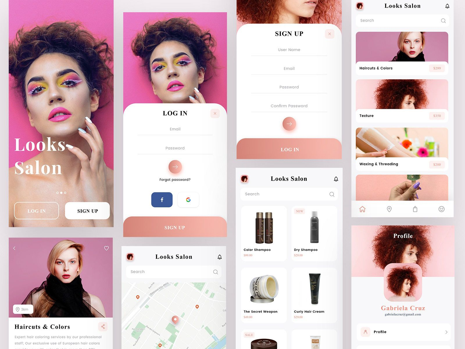 Check out my behance project hair salon app https