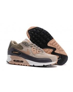 the best attitude 04620 6c107 Nike Air Max 90 Grey Bronze Trainers Brown Rose Gold White