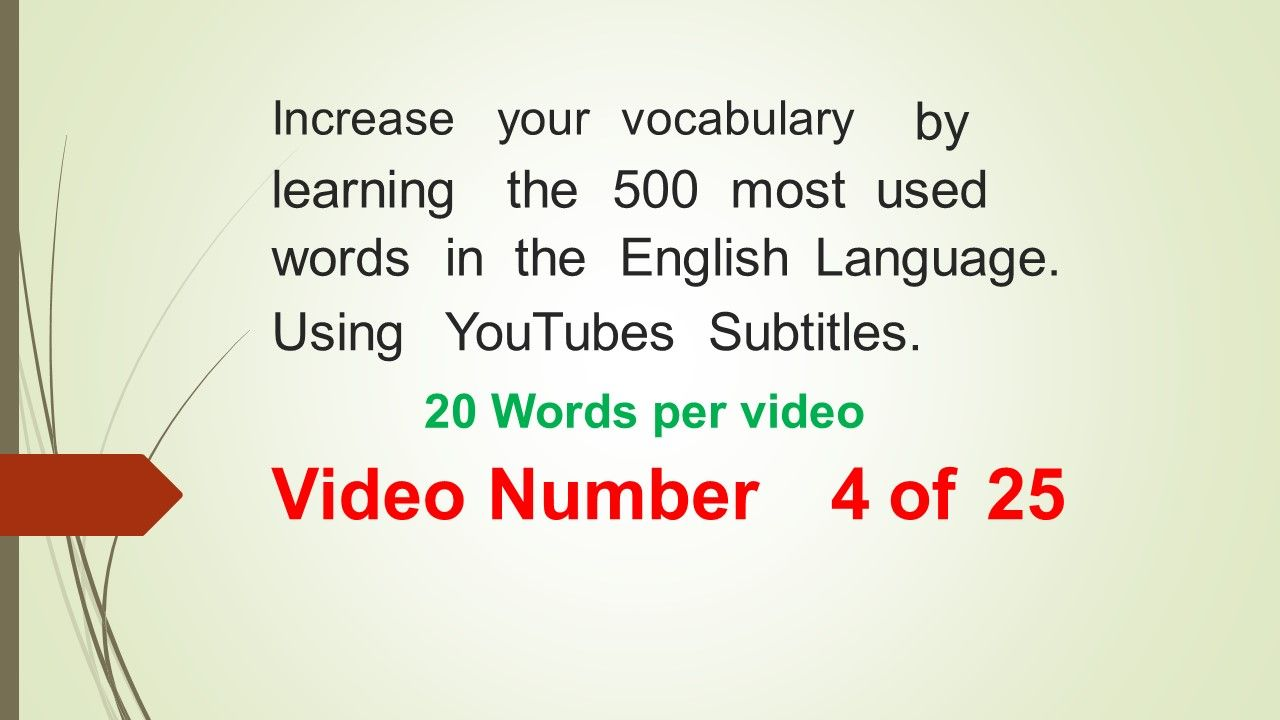 Learn english using youtubes subtitles/closed captions. There are.