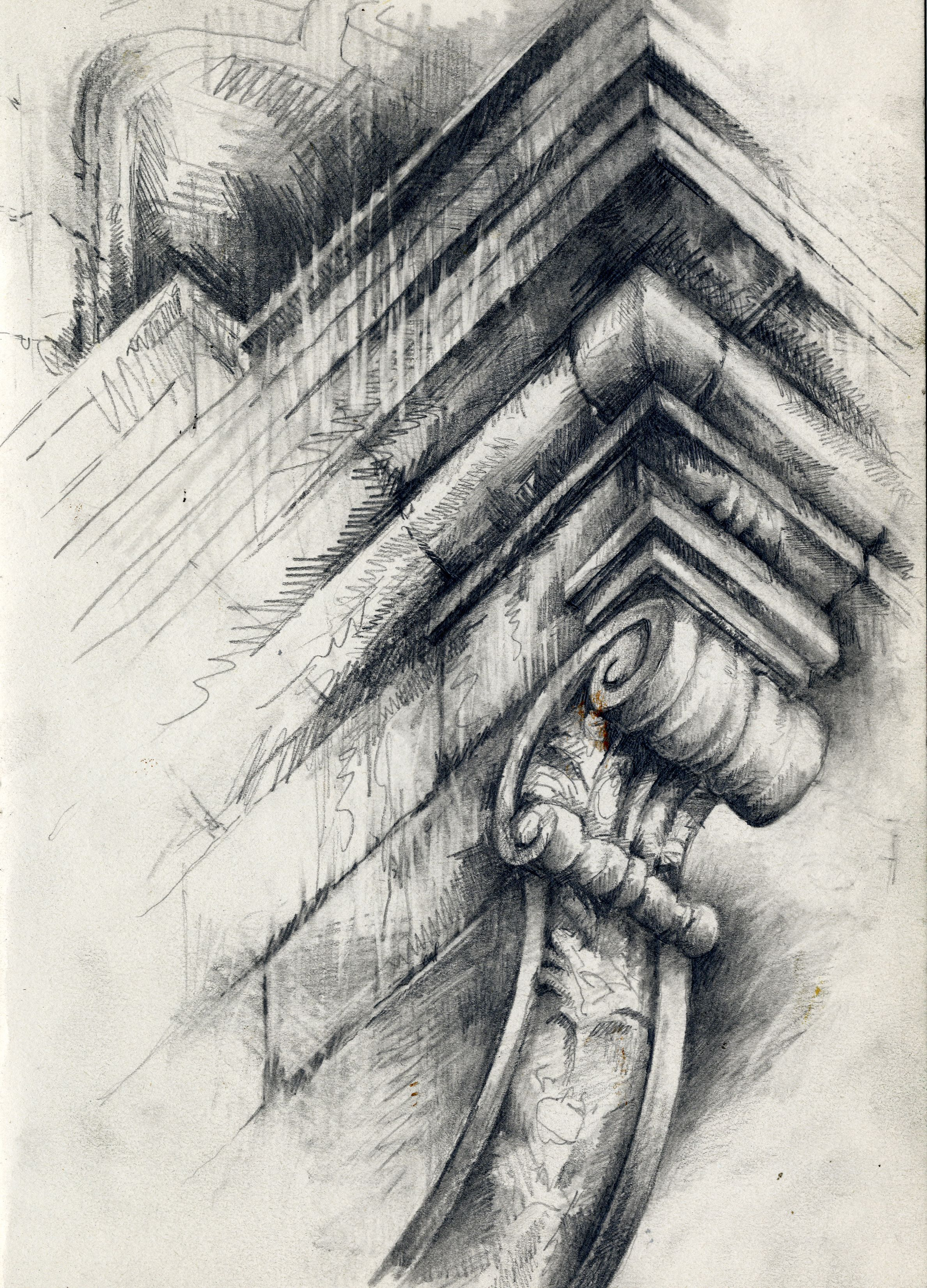 Great Example Of How A High Level Of Detail Can Be Portrayed With A Charcoal