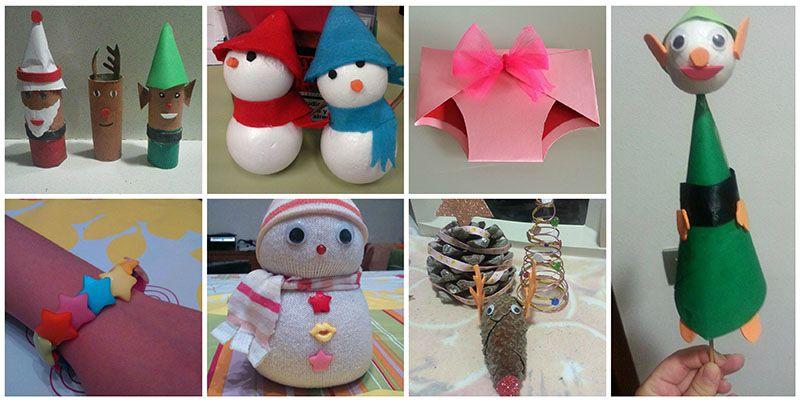 manualidades navidad con papel para niños Infantil Pinterest