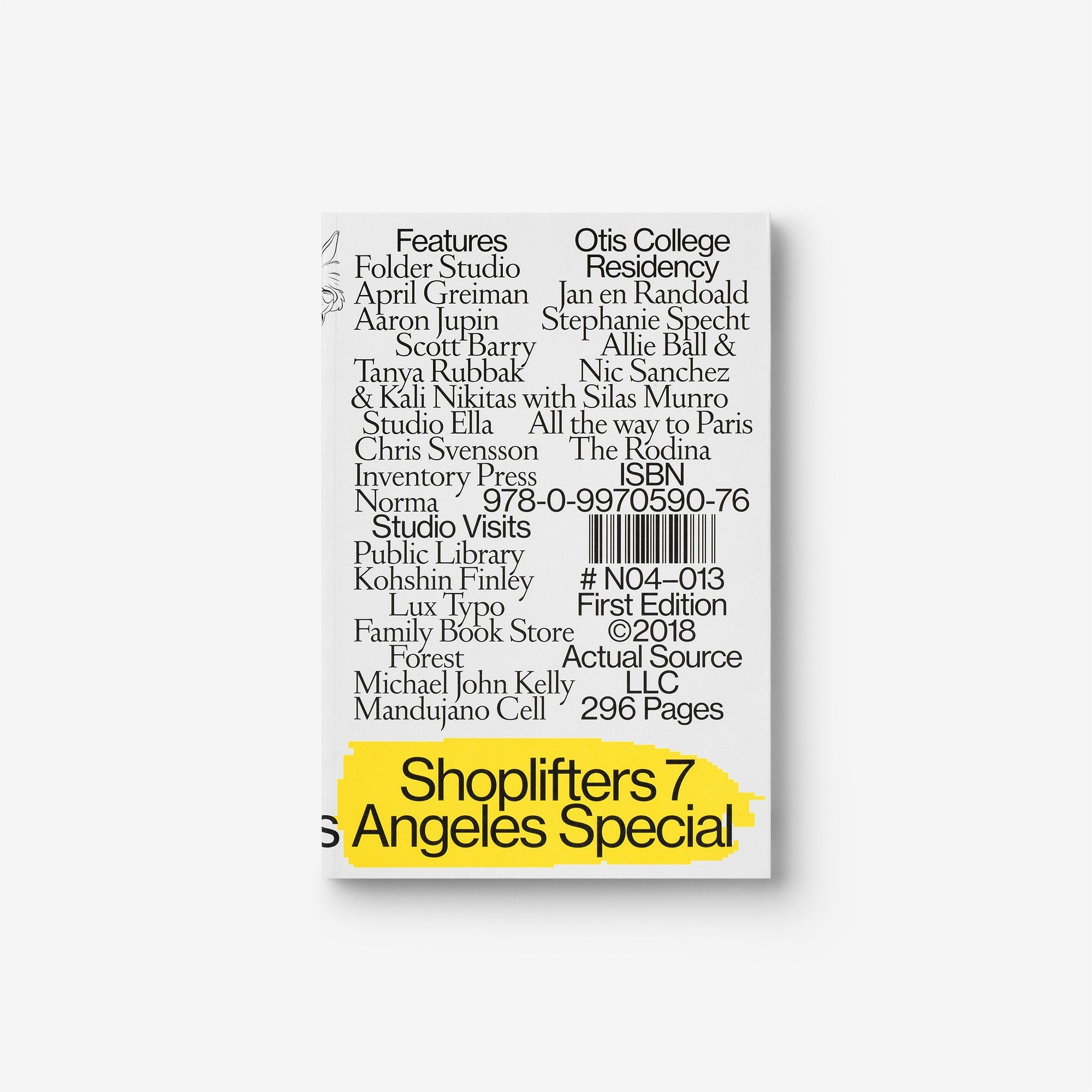 Shoplifters Issue 7 Los Angeles Special April Greiman Otis College Book Design