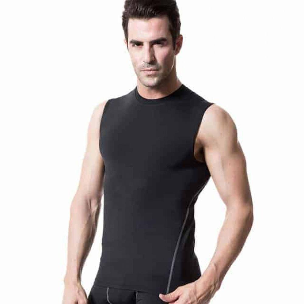Mens Sports Compress Top Tight Vest Sleeveless T-Shirt Quick Drying Football
