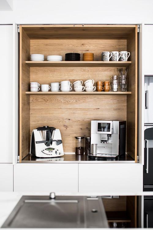 Built In Kitchen Coffee Bar Ideas Pickled Barrel In 2020 Coffee Bar Home Modern Home Bar Coffee Bars In Kitchen