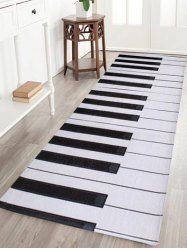 Home Floor Decor Coral Velvet Piano Keyboard Area Rug