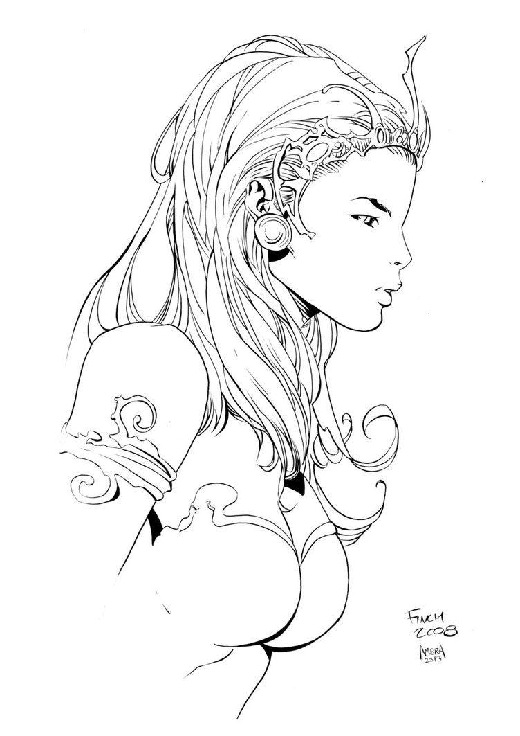 Dejah Thoris by Finch inks by fullname on DeviantArt