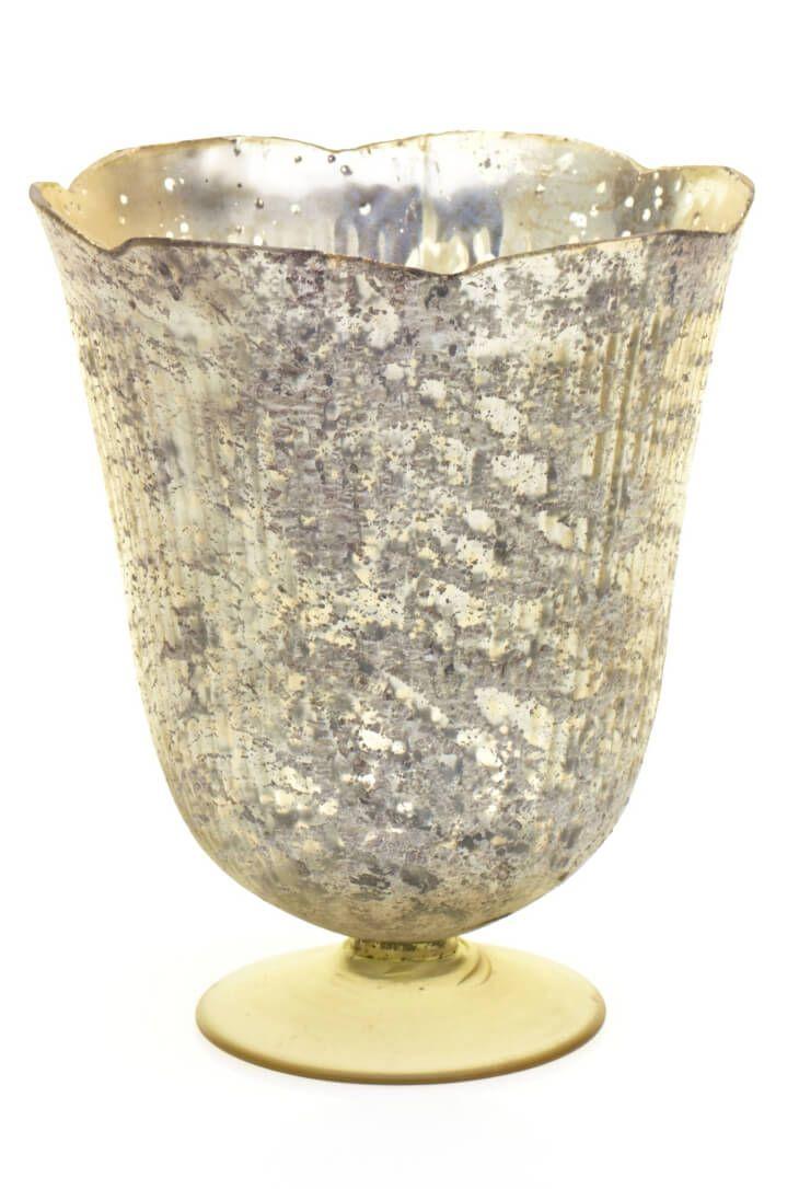 Gold Neeta Vase Medium   Antique gold and Centerpieces
