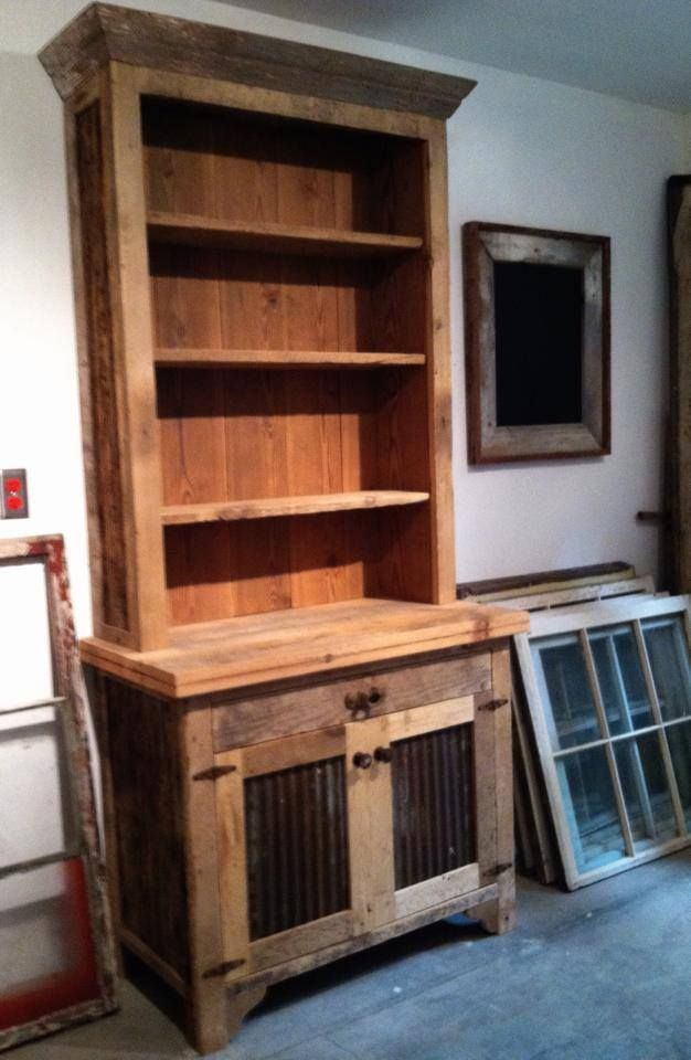 Latest Addition To The Showroom Barn Wood Hutch Built By Allenu0027s  Woodworking And American Barn